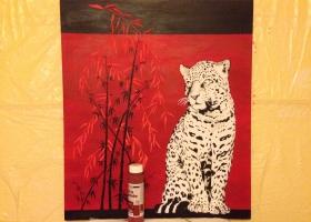 Leopard - Fertig, fehlen nur noch die Augen